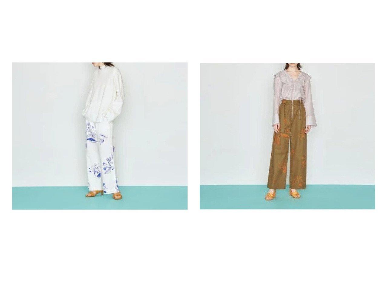 【UNITED ARROWS/ユナイテッドアローズ】のLI フラワープリント パンツ パンツのおすすめ!人気、トレンド・レディースファッションの通販 おすすめで人気の流行・トレンド、ファッションの通販商品 メンズファッション・キッズファッション・インテリア・家具・レディースファッション・服の通販 founy(ファニー) https://founy.com/ ファッション Fashion レディースファッション WOMEN パンツ Pants 雑誌 猫 フラワー フロント プリント おすすめ Recommend |ID:crp329100000023222