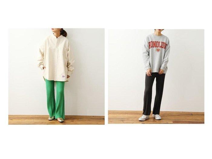 【RODEO CROWNS WIDE BOWL/ロデオクラウンズワイドボウル】のランダムリブニットパンツ パンツのおすすめ!人気、トレンド・レディースファッションの通販 おすすめファッション通販アイテム レディースファッション・服の通販 founy(ファニー) ファッション Fashion レディースファッション WOMEN パンツ Pants フレア 定番 Standard |ID:crp329100000023253