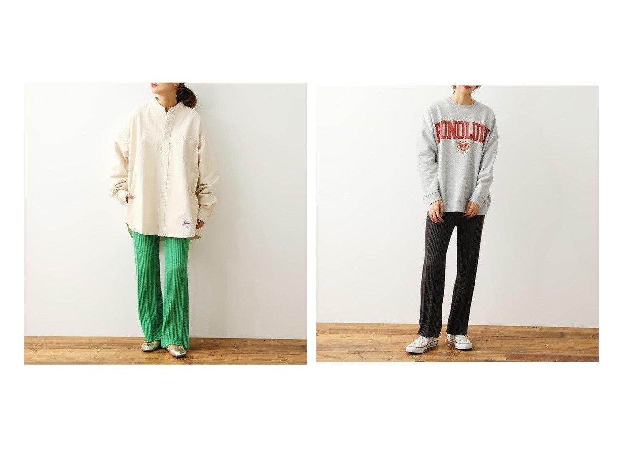 【RODEO CROWNS WIDE BOWL/ロデオクラウンズワイドボウル】のランダムリブニットパンツ パンツのおすすめ!人気、トレンド・レディースファッションの通販 おすすめで人気の流行・トレンド、ファッションの通販商品 メンズファッション・キッズファッション・インテリア・家具・レディースファッション・服の通販 founy(ファニー) https://founy.com/ ファッション Fashion レディースファッション WOMEN パンツ Pants フレア 定番 Standard |ID:crp329100000023253