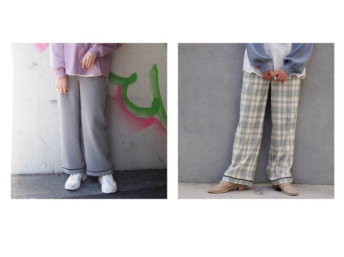 【179/WG/イチナナキューダブリュジー】のチェックストレートパンツ パンツのおすすめ!人気、トレンド・レディースファッションの通販 おすすめ人気トレンドファッション通販アイテム 人気、トレンドファッション・服の通販 founy(ファニー)  ファッション Fashion レディースファッション WOMEN パンツ Pants 2021年 2021 2021 春夏 S/S SS Spring/Summer 2021 S/S 春夏 SS Spring/Summer ストレート パイピング ループ 春 Spring |ID:crp329100000023281