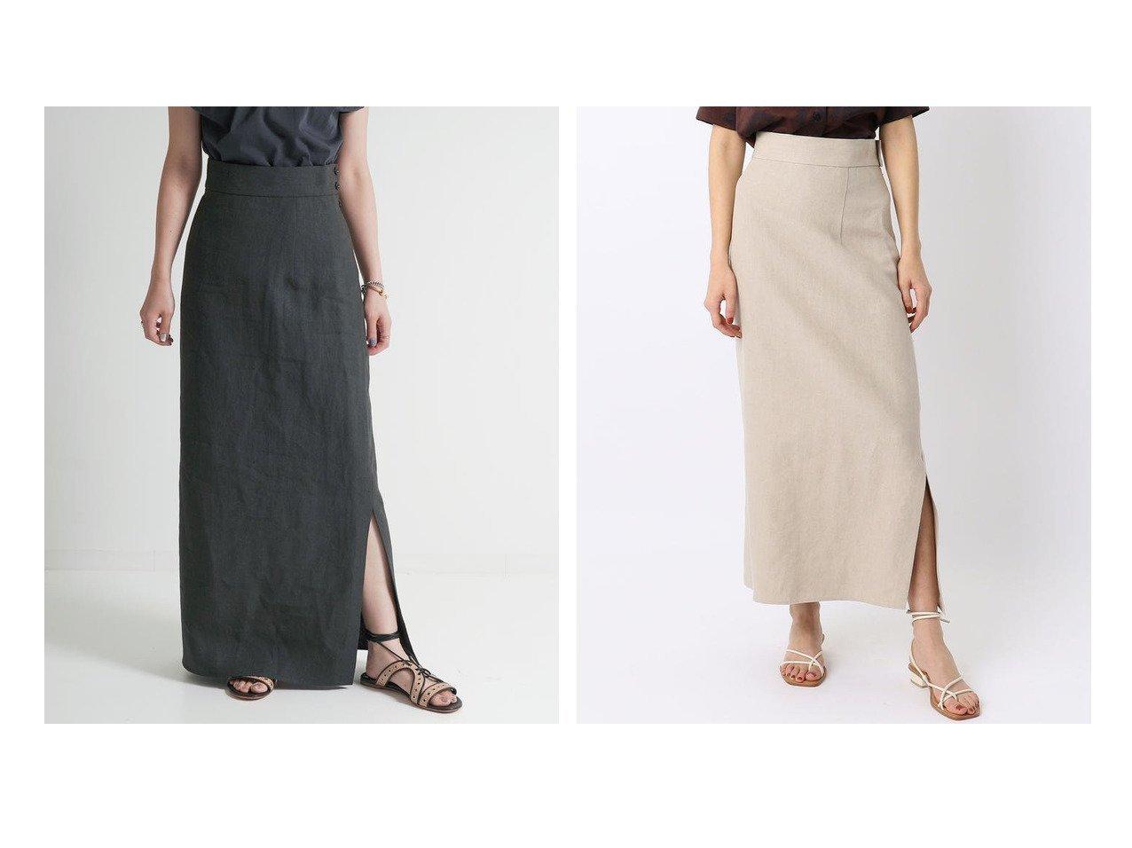 【BACCA/バッカ】のリネン ロングセミタイトスカート スカートのおすすめ!人気、トレンド・レディースファッションの通販 おすすめで人気の流行・トレンド、ファッションの通販商品 メンズファッション・キッズファッション・インテリア・家具・レディースファッション・服の通販 founy(ファニー) https://founy.com/ ファッション Fashion レディースファッション WOMEN スカート Skirt Aライン/フレアスカート Flared A-Line Skirts S/S 春夏 SS Spring/Summer アシンメトリー ギャザー スリット タンク フレア リネン ロング 人気 春 Spring  ID:crp329100000023301