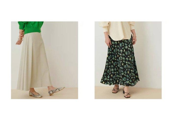 【ADAM ET ROPE'/アダム エ ロペ】の【アウトレット店舗・WEB限定】ボタニカルフラワープリーツスカート&ヴィーガンレザースカート スカートのおすすめ!人気、トレンド・レディースファッションの通販 おすすめ人気トレンドファッション通販アイテム 人気、トレンドファッション・服の通販 founy(ファニー) ファッション Fashion レディースファッション WOMEN スカート Skirt プリーツスカート Pleated Skirts 今季 サテン プリント ボタニカル ポケット 楽ちん アウトレット OUTLET おすすめ Recommend |ID:crp329100000023315