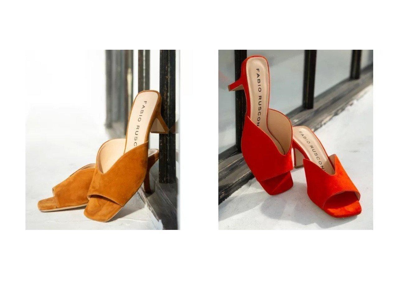【TRUE NAVY/トゥルー ネイビー】のFABIO RUSCONI(ファビオルスコーニ)/スクエアトゥミュール シューズ・靴のおすすめ!人気、トレンド・レディースファッションの通販 おすすめで人気の流行・トレンド、ファッションの通販商品 メンズファッション・キッズファッション・インテリア・家具・レディースファッション・服の通販 founy(ファニー) https://founy.com/ ファッション Fashion レディースファッション WOMEN イタリア 春 Spring カッティング コレクション サンダル シューズ シンプル スエード スクエア 別注 ミュール リゾート リュクス S/S 春夏 SS Spring/Summer |ID:crp329100000023360