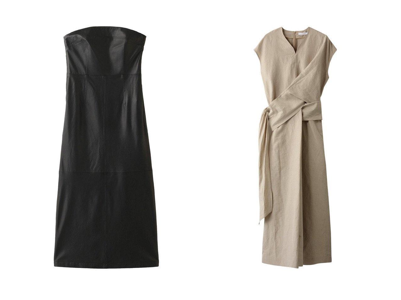 【THIRD MAGAZINE/サードマガジン】のバックギャザーレザーワンピース&【CINOH/チノ】のドレープノースリーブドレス ワンピース・ドレスのおすすめ!人気、トレンド・レディースファッションの通販 おすすめで人気の流行・トレンド、ファッションの通販商品 メンズファッション・キッズファッション・インテリア・家具・レディースファッション・服の通販 founy(ファニー) https://founy.com/ ファッション Fashion レディースファッション WOMEN ワンピース Dress ドレス Party Dresses 2021年 2021 2021 春夏 S/S SS Spring/Summer 2021 S/S 春夏 SS Spring/Summer ストライプ フロント リネン リボン ロング 春 Spring |ID:crp329100000023383