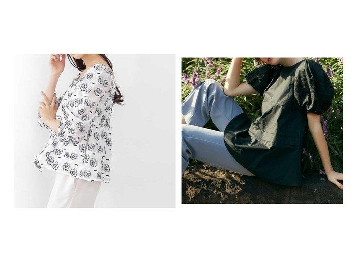 【JILL by JILLSTUART/ジルバイジルスチュアート】のミニフローラルカットジャガードブラウス&シルキーコットンシリーズブラウス ジルスチュアートのおすすめ!人気、トレンド・レディースファッションの通販 おすすめファッション通販アイテム レディースファッション・服の通販 founy(ファニー) ファッション Fashion レディースファッション WOMEN トップス カットソー Tops Tshirt シャツ/ブラウス Shirts Blouses カットジャガード シャーリング シンプル スクエア スリーブ セットアップ 春 Spring おすすめ Recommend チュニック リボン  ID:crp329100000023470