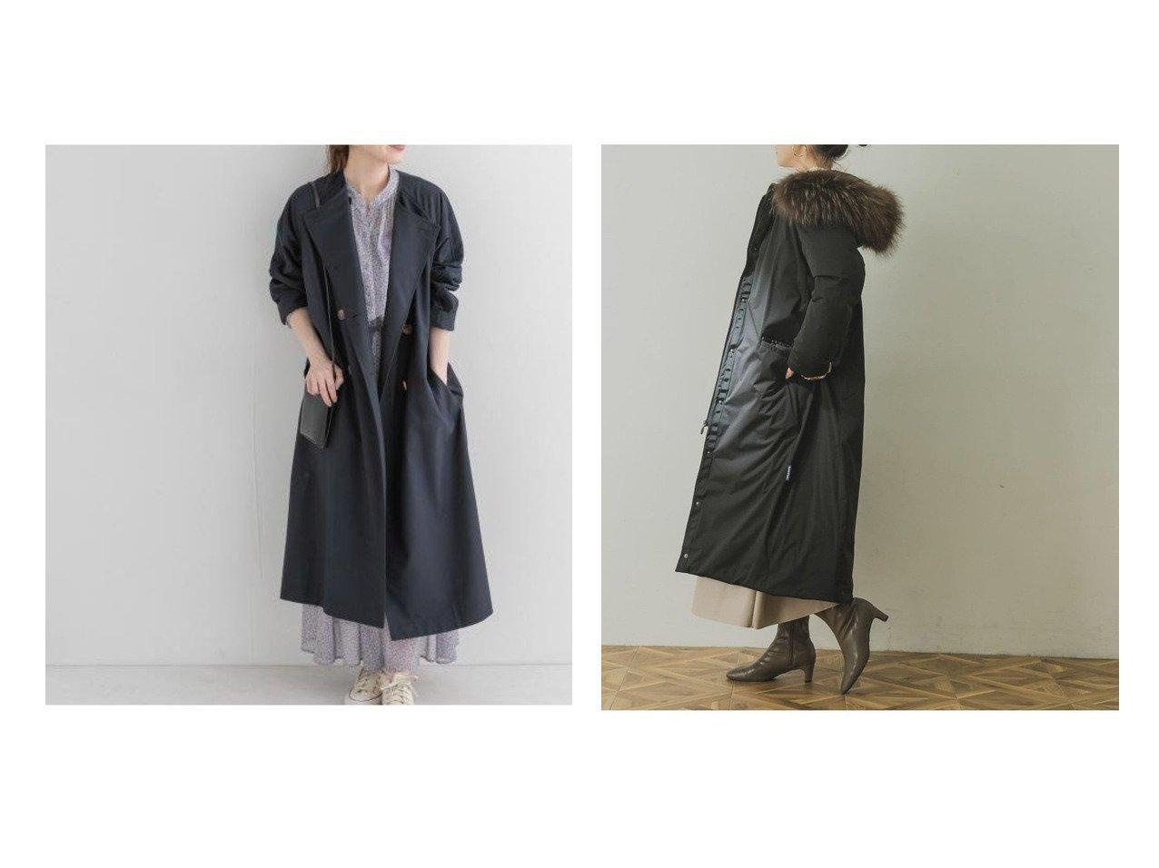 【URBAN RESEARCH/アーバンリサーチ】のYOSOOU Fur Hood Long Coat&【Sonny Label / URBAN RESEARCH/サニーレーベル】のノーカラートレンチコート アウターのおすすめ!人気、トレンド・レディースファッションの通販 おすすめで人気の流行・トレンド、ファッションの通販商品 メンズファッション・キッズファッション・インテリア・家具・レディースファッション・服の通販 founy(ファニー) https://founy.com/ ファッション Fashion レディースファッション WOMEN アウター Coat Outerwear コート Coats トレンチコート Trench Coats ジャケット Jackets NEW・新作・新着・新入荷 New Arrivals クラシカル スリット ダブル フレア ポケット ロング ジャケット スタイリッシュ スタンダード ダウン |ID:crp329100000023576