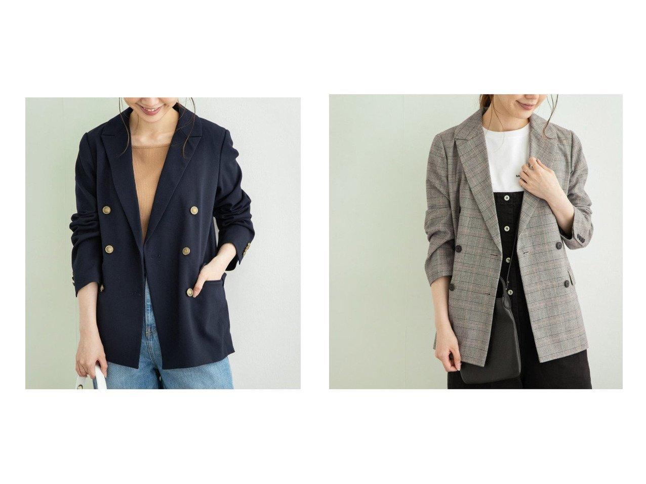 【Sonny Label / URBAN RESEARCH/サニーレーベル】のダブルブレストジャケット アウターのおすすめ!人気、トレンド・レディースファッションの通販 おすすめで人気の流行・トレンド、ファッションの通販商品 メンズファッション・キッズファッション・インテリア・家具・レディースファッション・服の通販 founy(ファニー) https://founy.com/ ファッション Fashion レディースファッション WOMEN アウター Coat Outerwear コート Coats ジャケット Jackets ジャケット スタンダード |ID:crp329100000023580