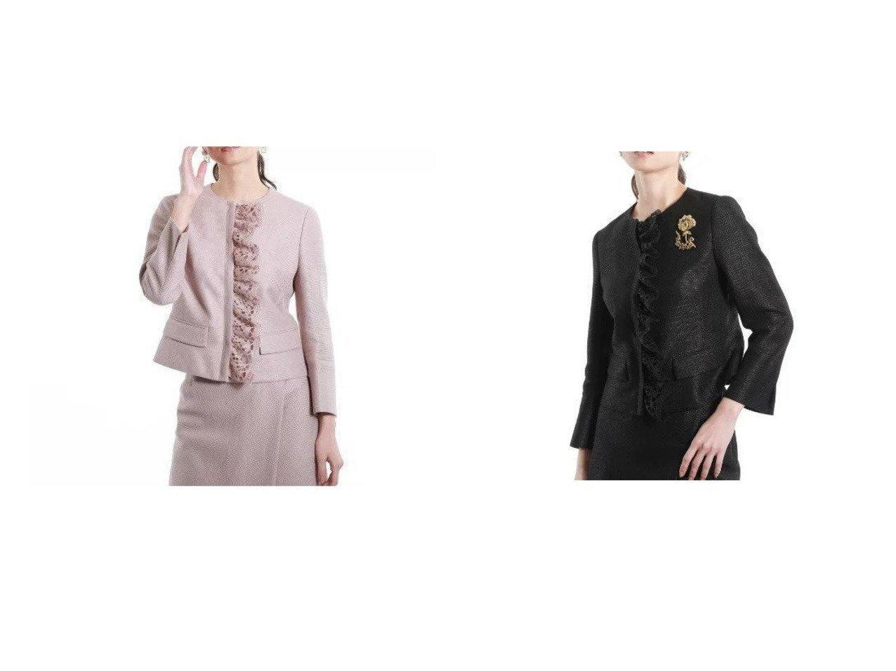 【EPOCA/エポカ】のリネンシャイニーツィードジャケット アウターのおすすめ!人気、トレンド・レディースファッションの通販 おすすめで人気の流行・トレンド、ファッションの通販商品 メンズファッション・キッズファッション・インテリア・家具・レディースファッション・服の通販 founy(ファニー) https://founy.com/ ファッション Fashion レディースファッション WOMEN アウター Coat Outerwear ジャケット Jackets シンプル ジャケット セットアップ フォルム フリル  ID:crp329100000023583