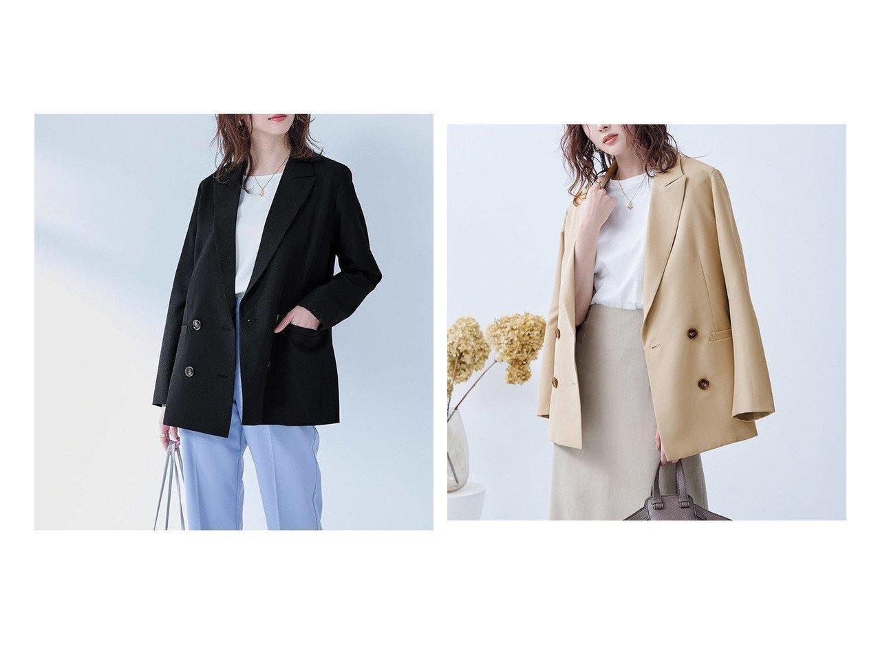 【ur's/ユアーズ】のピークドラペルダブルジャケット アウターのおすすめ!人気、トレンド・レディースファッションの通販 おすすめで人気の流行・トレンド、ファッションの通販商品 メンズファッション・キッズファッション・インテリア・家具・レディースファッション・服の通販 founy(ファニー) https://founy.com/ ファッション Fashion レディースファッション WOMEN アウター Coat Outerwear ジャケット Jackets テーラードジャケット Tailored Jackets 定番 Standard |ID:crp329100000023604