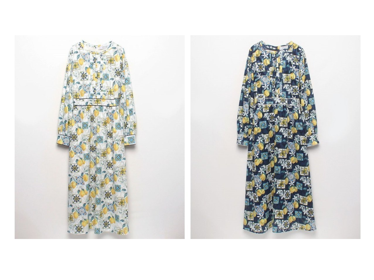 【allureville/アルアバイル】の【LOULOU WILLOUGHBY】レモンプリントナローワンピース ワンピース・ドレスのおすすめ!人気、トレンド・レディースファッションの通販 おすすめで人気の流行・トレンド、ファッションの通販商品 メンズファッション・キッズファッション・インテリア・家具・レディースファッション・服の通販 founy(ファニー) https://founy.com/ ファッション Fashion レディースファッション WOMEN ワンピース Dress シンプル プリント モチーフ ロング |ID:crp329100000023626