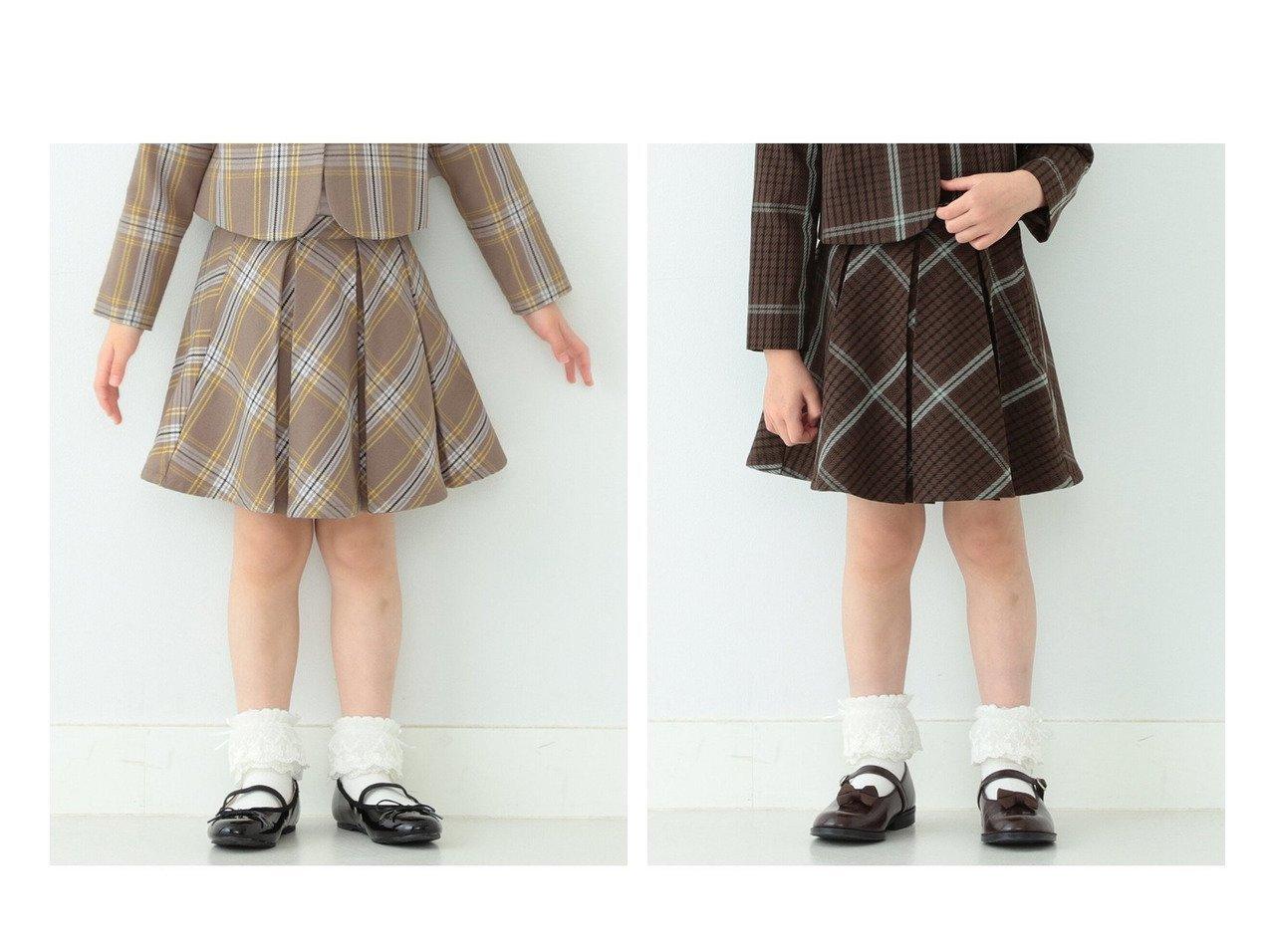 【B:MING by BEAMS / KIDS/ビーミング バイ ビームス】のフォーマル チェック スカート 21FO(100~130cm) 【KIDS】子供服のおすすめ!人気トレンド・キッズファッションの通販 おすすめで人気の流行・トレンド、ファッションの通販商品 メンズファッション・キッズファッション・インテリア・家具・レディースファッション・服の通販 founy(ファニー) https://founy.com/ ファッション Fashion キッズファッション KIDS カーディガン ジャケット セットアップ ダウン チェック パターン フォーマル ベスト ボレロ リアル ロング |ID:crp329100000023688