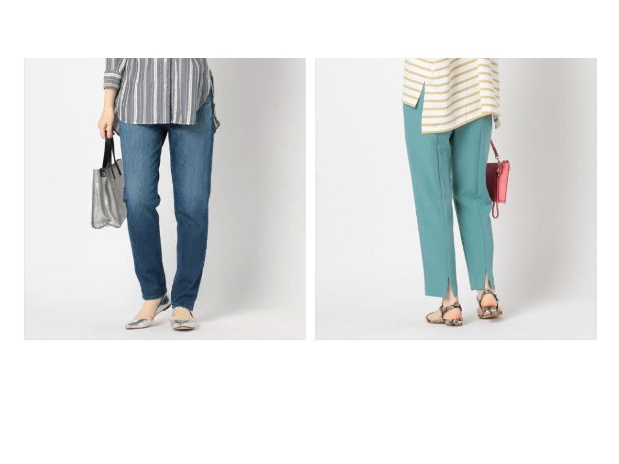 【NOLLEY'S/ノーリーズ】の【ヤヌーク】LOUNGERUTH&【NOLLEY'S sophi/ノーリーズソフィー】のタックテーパードパンツ パンツのおすすめ!人気、トレンド・レディースファッションの通販 おすすめで人気の流行・トレンド、ファッションの通販商品 メンズファッション・キッズファッション・インテリア・家具・レディースファッション・服の通販 founy(ファニー) https://founy.com/ ファッション Fashion レディースファッション WOMEN パンツ Pants スキニー ストレッチ ストレート スリム デニム ドローコード フィット ベーシック ボーイズ ワーク おすすめ Recommend お家時間・ステイホーム Home time,Stay home サイドジップ スリット センター プリーツ |ID:crp329100000023829