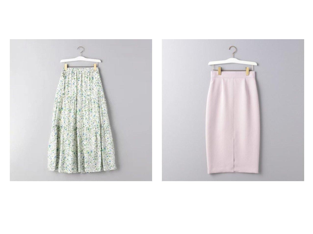 【UNITED ARROWS/ユナイテッドアローズ】のUBCB サテン フロントベントスカート&プリント ティアード マキシスカート スカートのおすすめ!人気、トレンド・レディースファッションの通販 おすすめで人気の流行・トレンド、ファッションの通販商品 メンズファッション・キッズファッション・インテリア・家具・レディースファッション・服の通販 founy(ファニー) https://founy.com/ ファッション Fashion レディースファッション WOMEN スカート Skirt ティアード ティアードスカート ノースリーブ プリント マキシ リラックス ロング サテン タイトスカート |ID:crp329100000023881