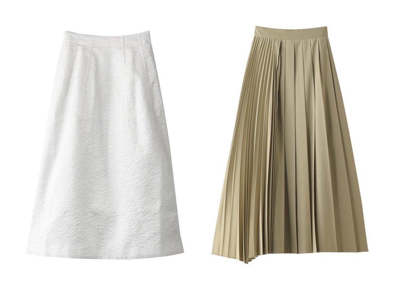 【MARILYN MOON/マリリンムーン】のジャカードロングスカート&【CLANE/クラネ】のスカート スカートのおすすめ!人気、トレンド・レディースファッションの通販 おすすめで人気の流行・トレンド、ファッションの通販商品 メンズファッション・キッズファッション・インテリア・家具・レディースファッション・服の通販 founy(ファニー) https://founy.com/ ファッション Fashion レディースファッション WOMEN スカート Skirt ロングスカート Long Skirt 2021年 2021 2021 春夏 S/S SS Spring/Summer 2021 S/S 春夏 SS Spring/Summer ガーリー プリーツ ミックス ロング 春 Spring |ID:crp329100000023898
