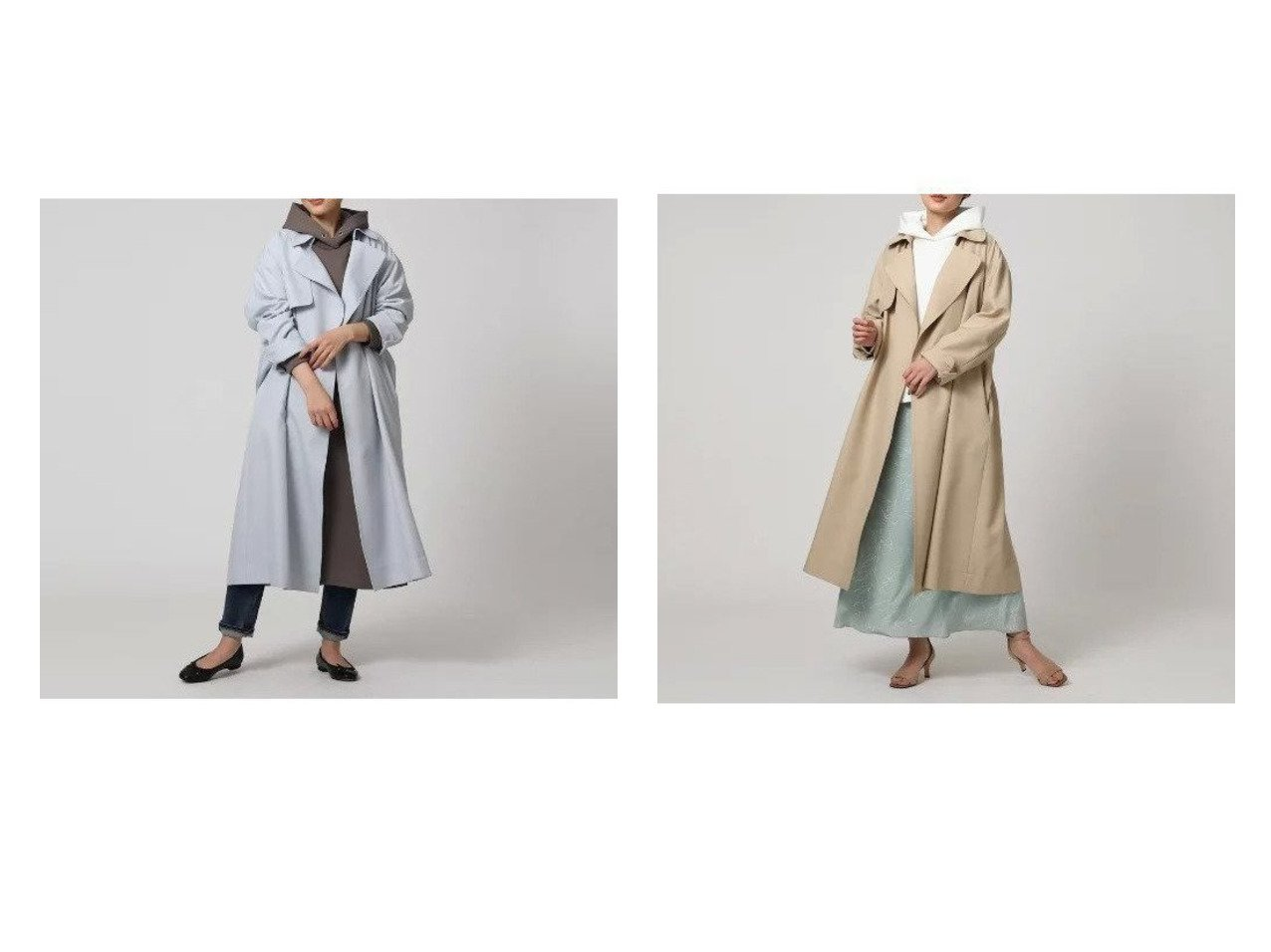 【UNTITLED/FAIRY SHADE/フェアリー シェード】のボタンレストレンチコート アウターのおすすめ!人気、トレンド・レディースファッションの通販 おすすめで人気の流行・トレンド、ファッションの通販商品 メンズファッション・キッズファッション・インテリア・家具・レディースファッション・服の通販 founy(ファニー) https://founy.com/ ファッション Fashion レディースファッション WOMEN アウター Coat Outerwear コート Coats トレンチコート Trench Coats おすすめ Recommend ギャザー パーカー ポケット ヨーク リラックス |ID:crp329100000024021