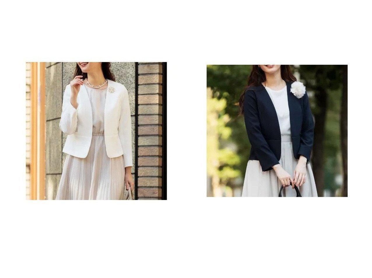 【any SiS/エニィ スィス】の【洗える】ノーカラーライト ジャケット アウターのおすすめ!人気、トレンド・レディースファッションの通販 おすすめで人気の流行・トレンド、ファッションの通販商品 メンズファッション・キッズファッション・インテリア・家具・レディースファッション・服の通販 founy(ファニー) https://founy.com/ ファッション Fashion レディースファッション WOMEN アウター Coat Outerwear ジャケット Jackets インナー コンパクト ショート ジャケット ストレッチ フェミニン ペプラム 洗える |ID:crp329100000024023