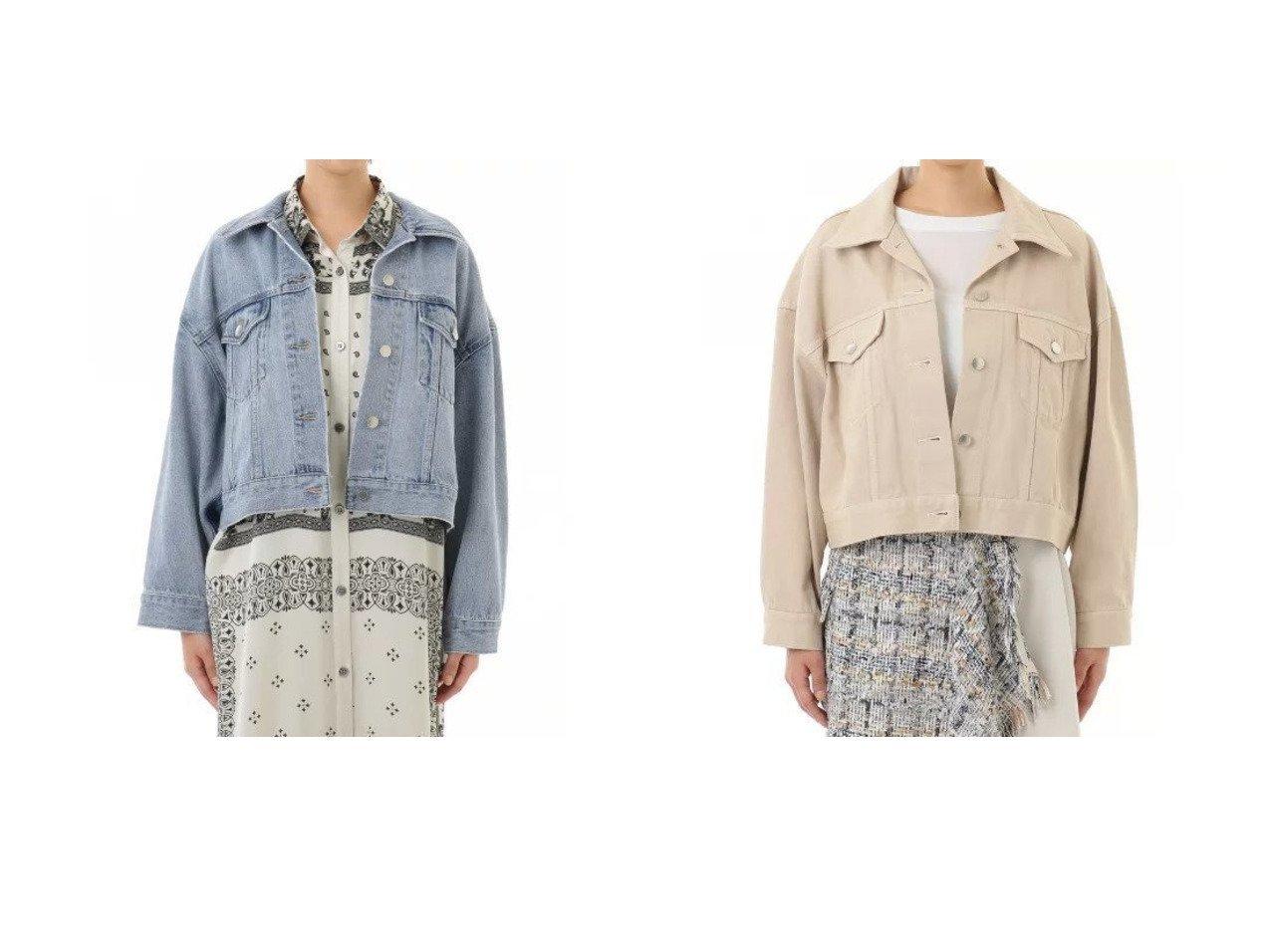 【GRACE CONTINENTAL/グレース コンチネンタル】のオープンカラーデニムジャケット アウターのおすすめ!人気、トレンド・レディースファッションの通販 おすすめで人気の流行・トレンド、ファッションの通販商品 メンズファッション・キッズファッション・インテリア・家具・レディースファッション・服の通販 founy(ファニー) https://founy.com/ ファッション Fashion レディースファッション WOMEN アウター Coat Outerwear ジャケット Jackets デニムジャケット Denim Jackets ジャケット デニム |ID:crp329100000024026