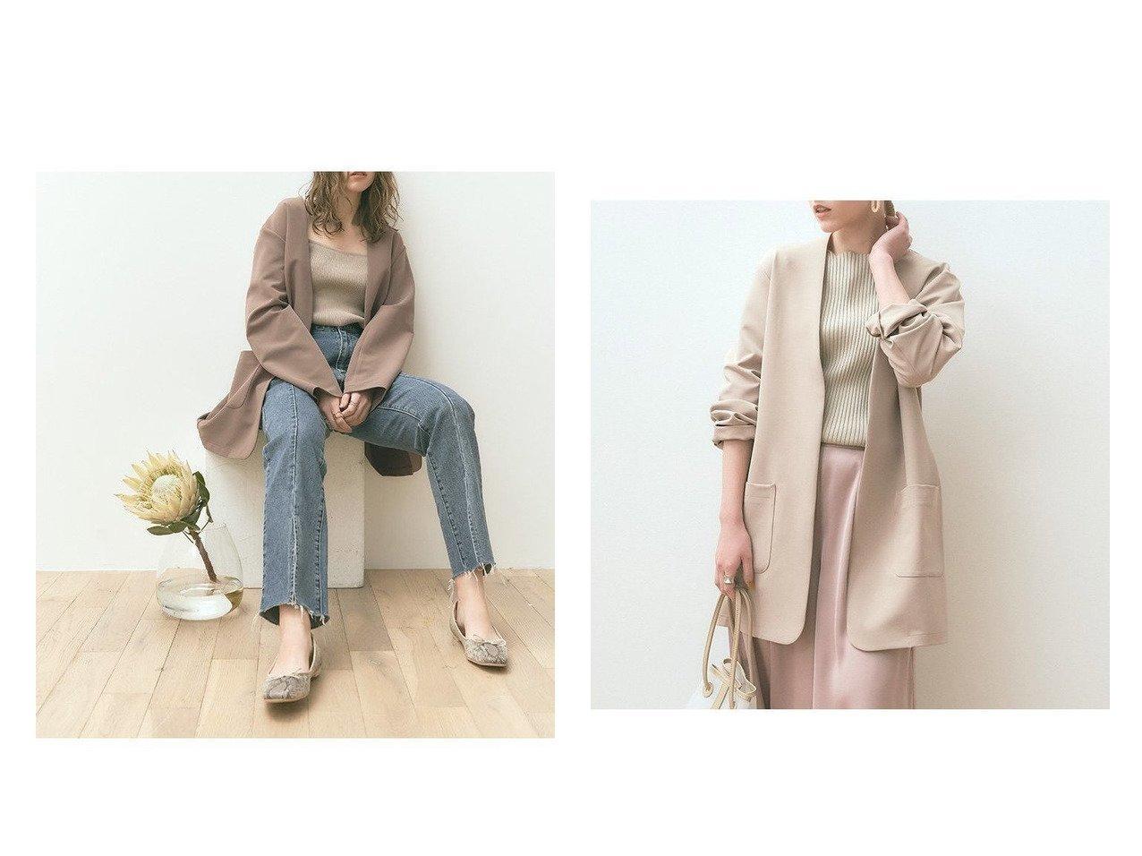 【titivate/ティティベイト】のデザインバックベルトノーカラージャケット アウターのおすすめ!人気、トレンド・レディースファッションの通販 おすすめで人気の流行・トレンド、ファッションの通販商品 メンズファッション・キッズファッション・インテリア・家具・レディースファッション・服の通販 founy(ファニー) https://founy.com/ ファッション Fashion レディースファッション WOMEN アウター Coat Outerwear ジャケット Jackets ノーカラージャケット No Collar Leather Jackets ベルト Belts インナー ジャケット ポケット 春 Spring |ID:crp329100000024032