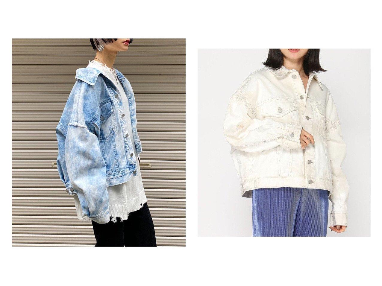 【PAGEBOY/ページボーイ】のアシッドデニムGジャン アウターのおすすめ!人気、トレンド・レディースファッションの通販 おすすめで人気の流行・トレンド、ファッションの通販商品 メンズファッション・キッズファッション・インテリア・家具・レディースファッション・服の通販 founy(ファニー) https://founy.com/ ファッション Fashion レディースファッション WOMEN アウター Coat Outerwear コート Coats ジャケット Jackets デニムジャケット Denim Jackets NEW・新作・新着・新入荷 New Arrivals ジャケット セットアップ デニム トレンド ブリーチ ランダム |ID:crp329100000024036