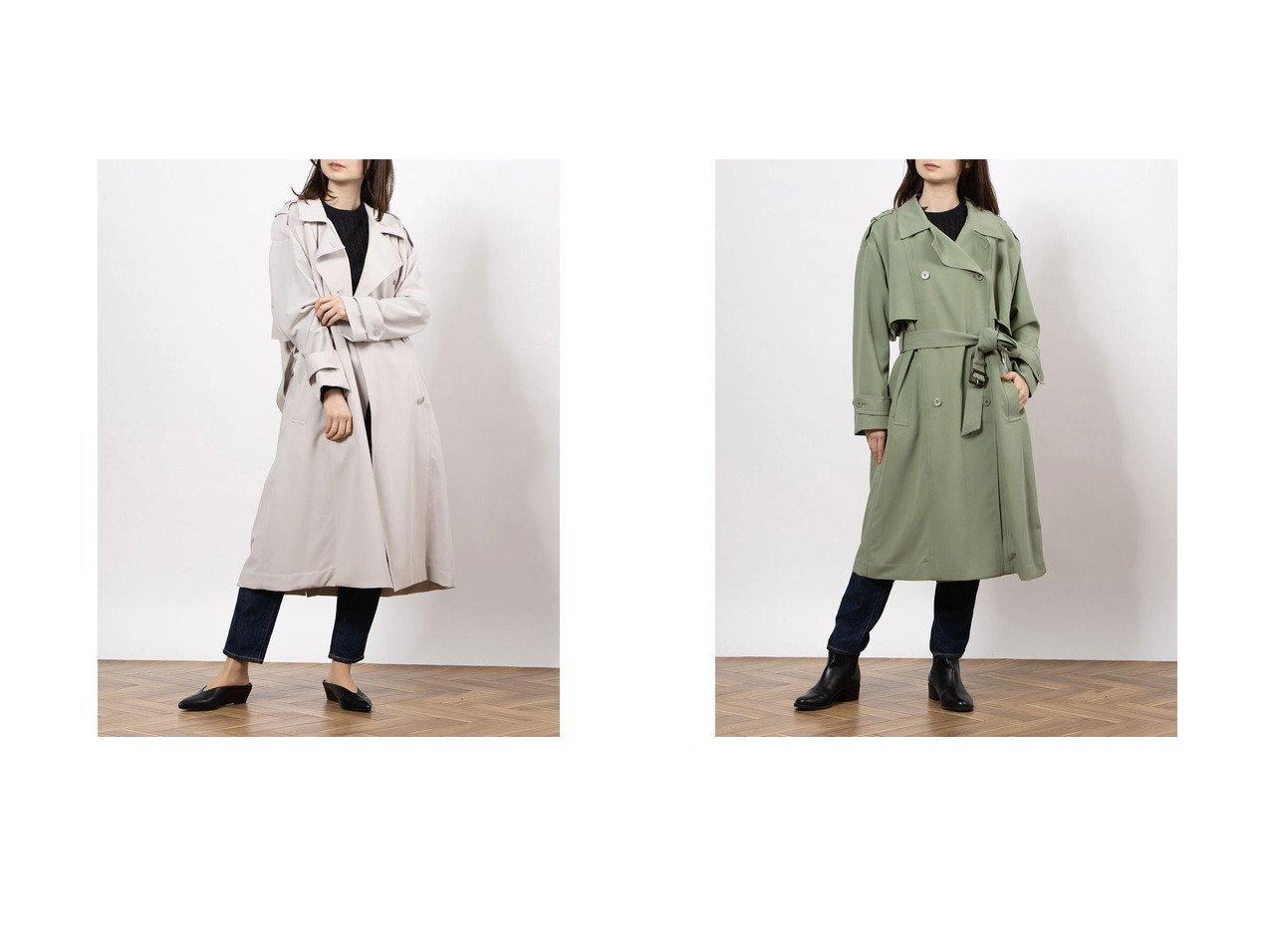 【Mila Owen/ミラオーウェン】のドルマンスリーブワイドトレンチCT アウターのおすすめ!人気、トレンド・レディースファッションの通販 おすすめで人気の流行・トレンド、ファッションの通販商品 メンズファッション・キッズファッション・インテリア・家具・レディースファッション・服の通販 founy(ファニー) https://founy.com/ ファッション Fashion レディースファッション WOMEN アウター Coat Outerwear 1月号 雑誌 |ID:crp329100000024037