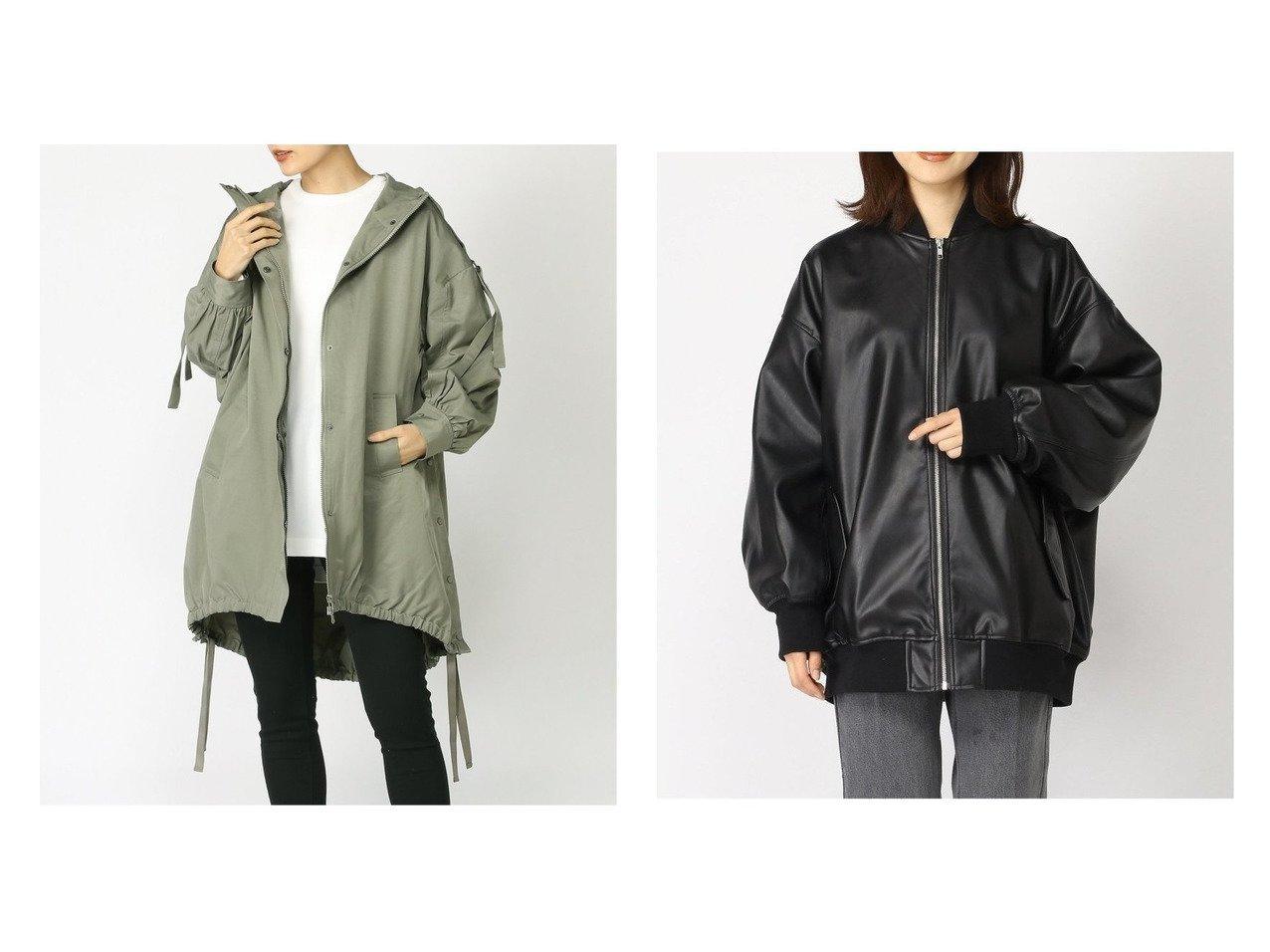 【JEANASiS/ジーナシス】のレザーMA1&モンスターパーカー アウターのおすすめ!人気、トレンド・レディースファッションの通販 おすすめで人気の流行・トレンド、ファッションの通販商品 メンズファッション・キッズファッション・インテリア・家具・レディースファッション・服の通販 founy(ファニー) https://founy.com/ ファッション Fashion レディースファッション WOMEN アウター Coat Outerwear コート Coats ジャケット Jackets ライダース Riders Jacket NEW・新作・新着・新入荷 New Arrivals インナー ジャケット スポーツ スリット パーカー ミリタリー 春 Spring |ID:crp329100000024039