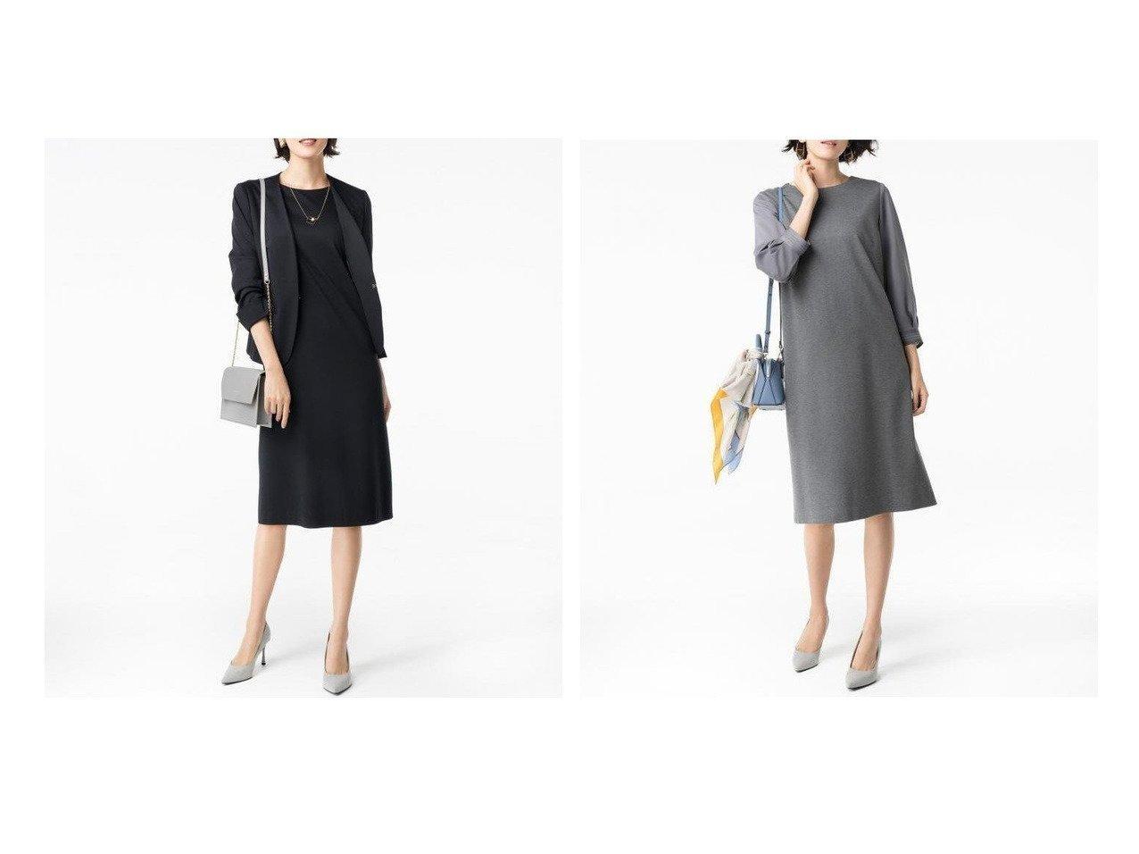 【JIYU-KU/自由区】の360°FREE ウォッシャブル ワンピース ワンピース・ドレスのおすすめ!人気、トレンド・レディースファッションの通販 おすすめで人気の流行・トレンド、ファッションの通販商品 メンズファッション・キッズファッション・インテリア・家具・レディースファッション・服の通販 founy(ファニー) https://founy.com/ ファッション Fashion レディースファッション WOMEN ワンピース Dress ウォッシャブル カットソー カフス シアー ジャケット スリーブ セットアップ ドレス リボン  ID:crp329100000024060