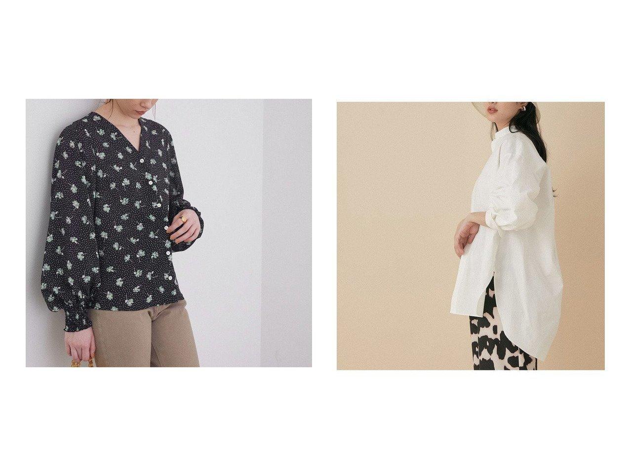 【ADAM ET ROPE'/アダム エ ロペ】のバンドカラーシャツ&【ROPE' mademoiselle/ロペ マドモアゼル】のMARIEフラワープリントパフスリーブブラウス トップス・カットソーのおすすめ!人気、トレンド・レディースファッションの通販 おすすめで人気の流行・トレンド、ファッションの通販商品 メンズファッション・キッズファッション・インテリア・家具・レディースファッション・服の通販 founy(ファニー) https://founy.com/ ファッション Fashion レディースファッション WOMEN トップス カットソー Tops Tshirt シャツ/ブラウス Shirts Blouses 花柄・フラワープリント・モチーフ Flower Patterns イエロー オレンジ ヴィンテージ 春 Spring スタンダード デコルテ デニム フェミニン プリント ポケット マニッシュ モチーフ 再入荷 Restock/Back in Stock/Re Arrival カフス フォルム ボトム メタル ロング ワッシャー 2021年 2021 S/S 春夏 SS Spring/Summer 2021 春夏 S/S SS Spring/Summer 2021 NEW・新作・新着・新入荷 New Arrivals  ID:crp329100000024102