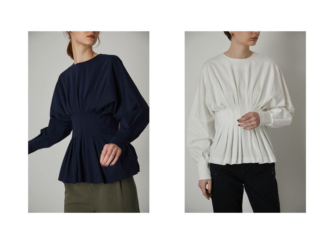 【RIM.ARK/リムアーク】のWaist Shape cut tops トップス・カットソーのおすすめ!人気、トレンド・レディースファッションの通販 おすすめで人気の流行・トレンド、ファッションの通販商品 メンズファッション・キッズファッション・インテリア・家具・レディースファッション・服の通販 founy(ファニー) https://founy.com/ ファッション Fashion レディースファッション WOMEN トップス カットソー Tops Tshirt シャツ/ブラウス Shirts Blouses NEW・新作・新着・新入荷 New Arrivals カットソー コンパクト シェイプ |ID:crp329100000024167