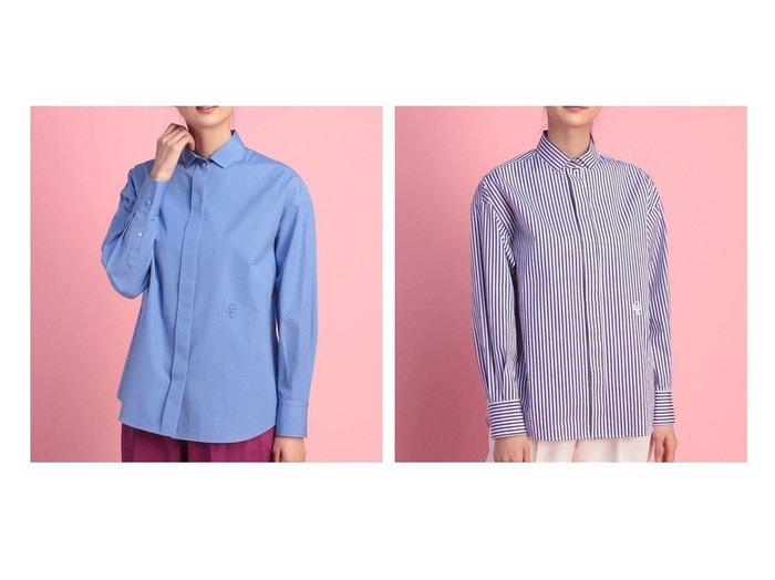 【OLD ENGLAND/オールド イングランド】のコットンポプリンシャツ トップス・カットソーのおすすめ!人気、トレンド・レディースファッションの通販  おすすめ人気トレンドファッション通販アイテム 人気、トレンドファッション・服の通販 founy(ファニー) ファッション Fashion レディースファッション WOMEN トップス カットソー Tops Tshirt シャツ/ブラウス Shirts Blouses スマート フロント 長袖 |ID:crp329100000024226