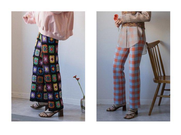 【MAISON SPECIAL/メゾンスペシャル】のブロックチェックニットパンツ&クロシェニットパンツ パンツのおすすめ!人気、トレンド・レディースファッションの通販  おすすめ人気トレンドファッション通販アイテム インテリア・キッズ・メンズ・レディースファッション・服の通販 founy(ファニー) https://founy.com/ ファッション Fashion レディースファッション WOMEN パンツ Pants 2021年 2021 2021 春夏 S/S SS Spring/Summer 2021 S/S 春夏 SS Spring/Summer チェック チュニック フレア ブロック レギンス 春 Spring かぎ針 キャミソール 手編み パッチワーク フィット モダン おすすめ Recommend  ID:crp329100000024332