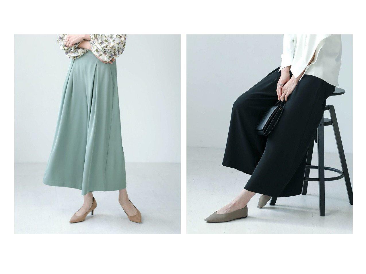 【Bou Jeloud/ブージュルード】のとろみワイドタックパンツ おすすめ!人気!プチプライスで上品なファッションアイテムの通販 おすすめで人気の流行・トレンド、ファッションの通販商品 メンズファッション・キッズファッション・インテリア・家具・レディースファッション・服の通販 founy(ファニー) https://founy.com/ ファッション Fashion レディースファッション WOMEN パンツ Pants とろみ エレガント セットアップ フレア プチプライス・低価格 Affordable ワイド |ID:crp329100000024369