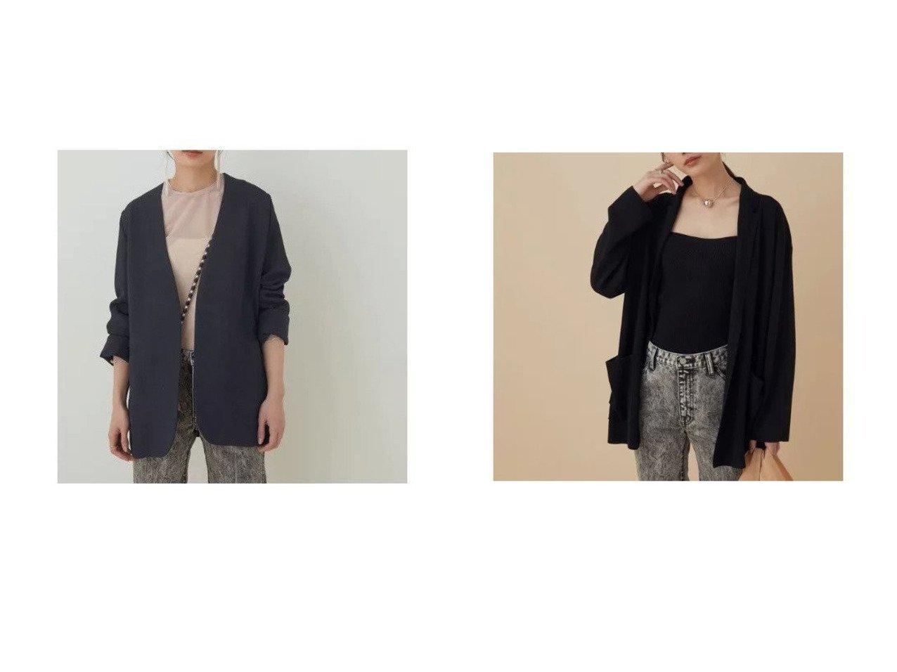 【ADAM ET ROPE'/アダム エ ロペ】の【WEB限定】【セットアップ対応】LINENニットジャケット&【セットアップ対応】リネンライクジャケット アウターのおすすめ!人気、トレンド・レディースファッションの通販  おすすめで人気の流行・トレンド、ファッションの通販商品 メンズファッション・キッズファッション・インテリア・家具・レディースファッション・服の通販 founy(ファニー) https://founy.com/ ファッション Fashion レディースファッション WOMEN アウター Coat Outerwear ジャケット Jackets インナー 春 Spring カットソー 今季 シンプル ジャケット ストレッチ セットアップ テーラード デニム トレンド ベーシック ポケット リネン 2021年 2021 S/S 春夏 SS Spring/Summer 2021 春夏 S/S SS Spring/Summer 2021 おすすめ Recommend  ID:crp329100000024379