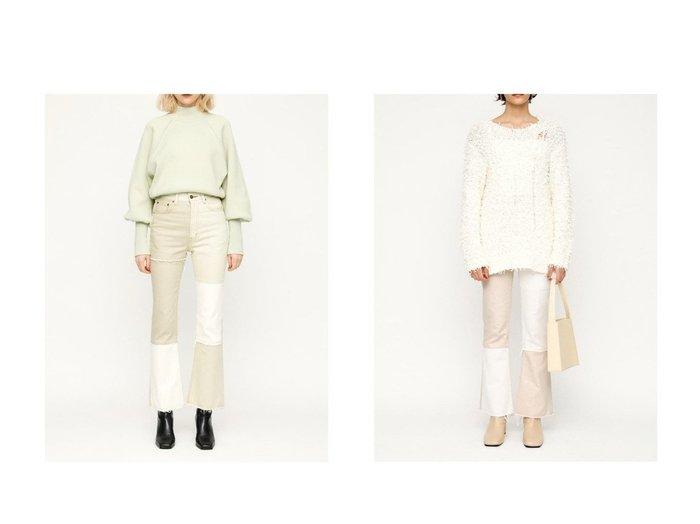 【SLY/スライ】のREMAKE KICK FLARE PT-E パンツのおすすめ!人気、トレンド・レディースファッションの通販 おすすめ人気トレンドファッション通販アイテム 人気、トレンドファッション・服の通販 founy(ファニー) ファッション Fashion レディースファッション WOMEN パンツ Pants ジーンズ ストレート フレア  ID:crp329100000024470