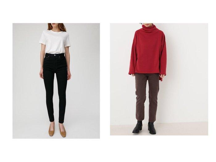 【moussy/マウジー】のHW Rebirth BLACK SKINNY&【BLACK by moussy/ブラック バイ マウジー】のDRIP straight color pants パンツのおすすめ!人気、トレンド・レディースファッションの通販 おすすめファッション通販アイテム インテリア・キッズ・メンズ・レディースファッション・服の通販 founy(ファニー) https://founy.com/ ファッション Fashion レディースファッション WOMEN パンツ Pants デニムパンツ Denim Pants シンプル ジーンズ スキニー ストレッチ デニム パフォーマンス ストレート フィット |ID:crp329100000024471