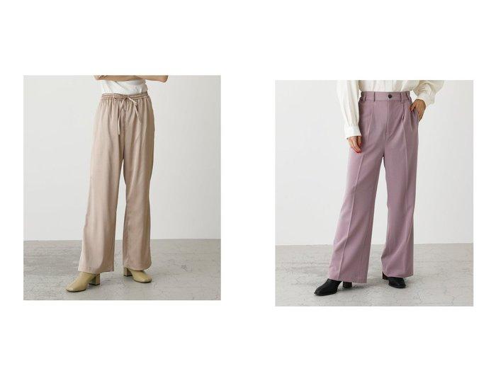 【AZUL by moussy/アズール バイ マウジー】のセンタープレスパンツ&SNAKE SATIN RELAX PANTS パンツのおすすめ!人気、トレンド・レディースファッションの通販 おすすめファッション通販アイテム レディースファッション・服の通販 founy(ファニー) ファッション Fashion レディースファッション WOMEN パンツ Pants 2021年 2021 2021 春夏 S/S SS Spring/Summer 2021 S/S 春夏 SS Spring/Summer サテン リラックス ルーズ 春 Spring おすすめ Recommend ジーンズ セットアップ センター ツイル |ID:crp329100000024474
