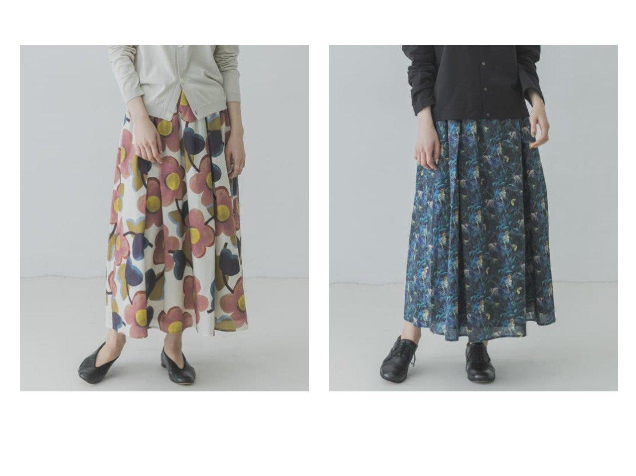 【kagure / URBAN RESEARCH/かぐれ】のリバティプリントスカート スカートのおすすめ!人気、トレンド・レディースファッションの通販 おすすめで人気の流行・トレンド、ファッションの通販商品 メンズファッション・キッズファッション・インテリア・家具・レディースファッション・服の通販 founy(ファニー) https://founy.com/ ファッション Fashion レディースファッション WOMEN スカート Skirt Aライン/フレアスカート Flared A-Line Skirts カットソー ギャザー スウェット フレア ポケット ロング 再入荷 Restock/Back in Stock/Re Arrival |ID:crp329100000024481