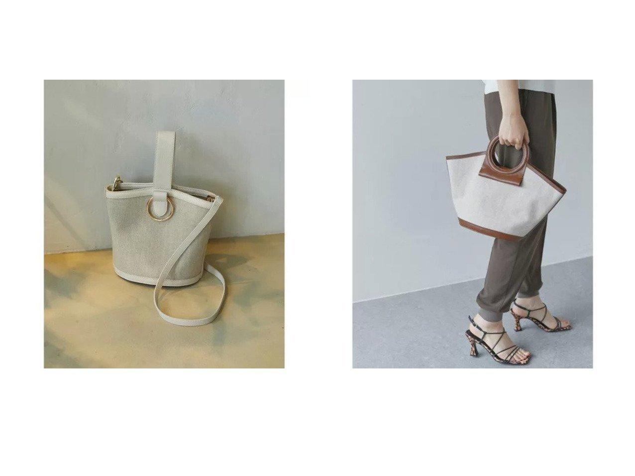 【GALLARDAGALANTE/ガリャルダガランテ】のリネンワンハンドルバッグ&リネンラウンドハンドルバッグ バッグ・鞄のおすすめ!人気、トレンド・レディースファッションの通販  おすすめで人気の流行・トレンド、ファッションの通販商品 メンズファッション・キッズファッション・インテリア・家具・レディースファッション・服の通販 founy(ファニー) https://founy.com/ ファッション Fashion レディースファッション WOMEN バッグ Bag ショルダー シンプル スマート 財布 パイピング ポケット ポーチ マグネット リネン ワンポイント サークル バランス |ID:crp329100000024526