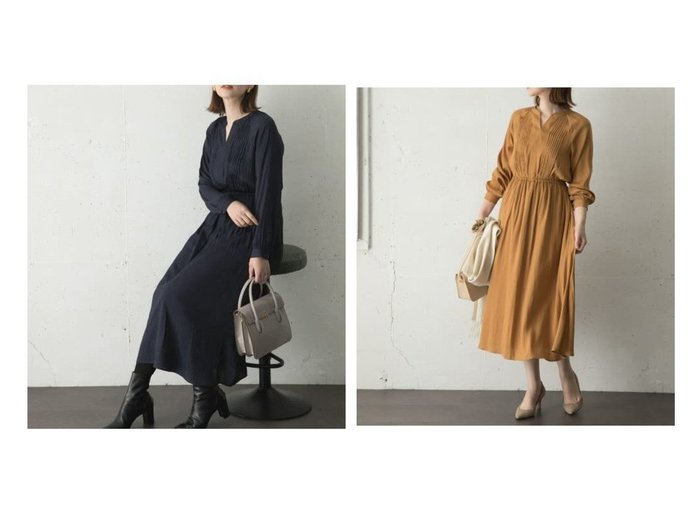 【URBAN RESEARCH ROSSO/アーバンリサーチ ロッソ】のピンタックギャザーワンピース ワンピース・ドレスのおすすめ!人気、トレンド・レディースファッションの通販 おすすめファッション通販アイテム レディースファッション・服の通販 founy(ファニー) ファッション Fashion レディースファッション WOMEN ワンピース Dress おすすめ Recommend カーディガン スキッパー フォックス ポケット  ID:crp329100000024624