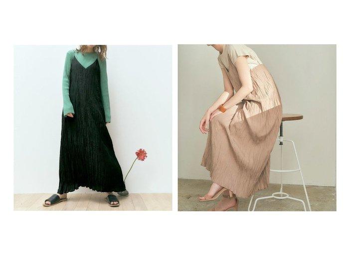 【titivate/ティティベイト】のワッシャープリーツキャミソールワンピース ワンピース・ドレスのおすすめ!人気、トレンド・レディースファッションの通販 おすすめファッション通販アイテム レディースファッション・服の通販 founy(ファニー)  ファッション Fashion レディースファッション WOMEN ワンピース Dress ロング |ID:crp329100000024641