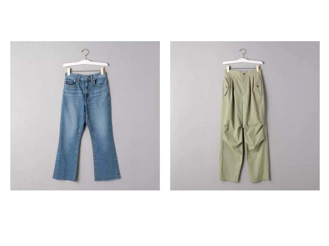 【UNITED ARROWS/ユナイテッドアローズ】のUWSC クロップド フレアデニムパンツ&ニータック パンツ パンツのおすすめ!人気、トレンド・レディースファッションの通販 おすすめで人気の流行・トレンド、ファッションの通販商品 メンズファッション・キッズファッション・インテリア・家具・レディースファッション・服の通販 founy(ファニー) https://founy.com/ ファッション Fashion レディースファッション WOMEN パンツ Pants デニムパンツ Denim Pants カットオフ クロップド サンダル シューズ デニム フレア |ID:crp329100000024688