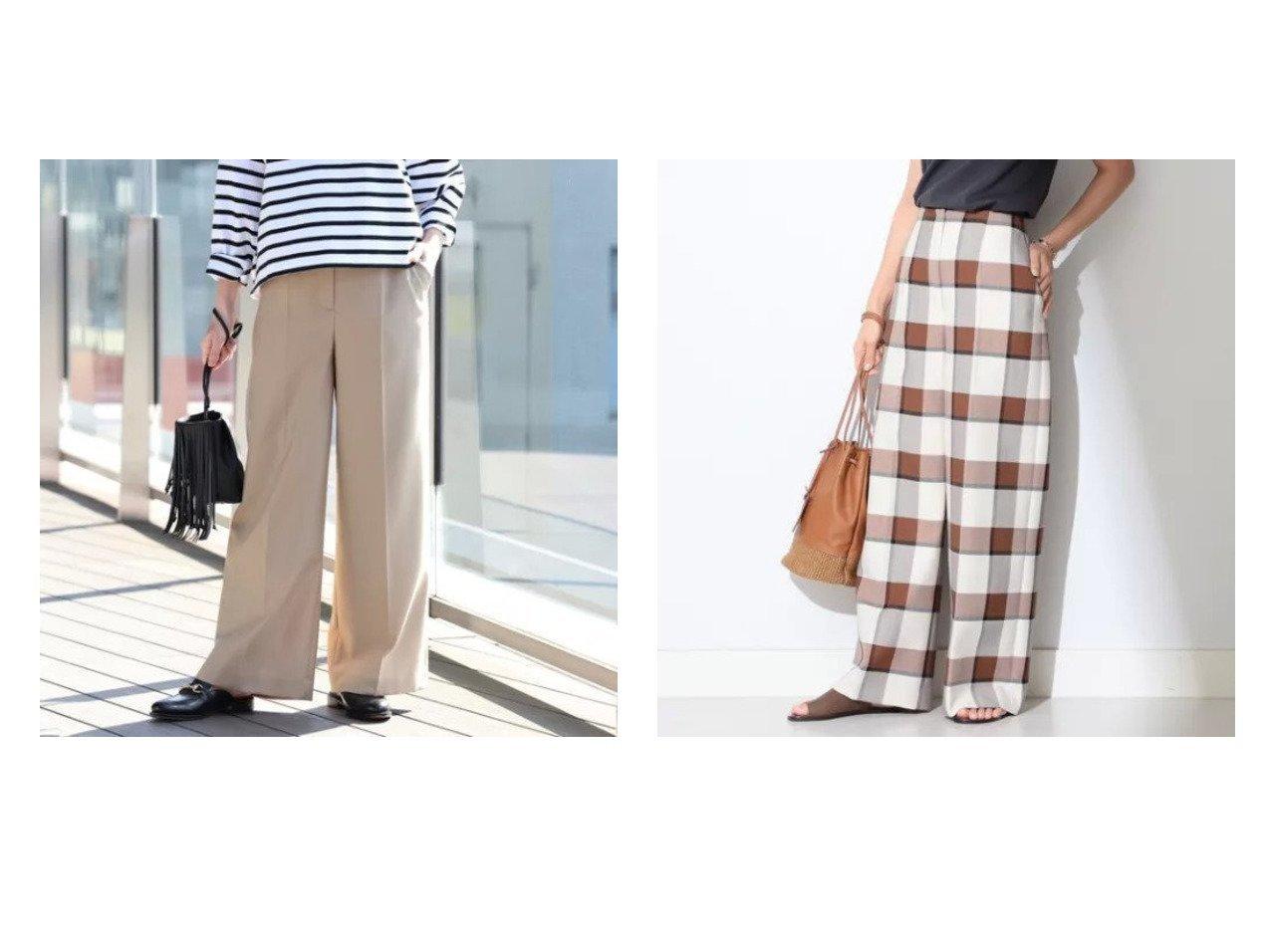 【Demi-Luxe BEAMS/デミルクス ビームス】のDemi- チェック ワイドパンツ&Demi- ツイル ワイドパンツ パンツのおすすめ!人気、トレンド・レディースファッションの通販 おすすめで人気の流行・トレンド、ファッションの通販商品 メンズファッション・キッズファッション・インテリア・家具・レディースファッション・服の通販 founy(ファニー) https://founy.com/ ファッション Fashion レディースファッション WOMEN パンツ Pants ジャケット センター ツイル ワイド |ID:crp329100000024691