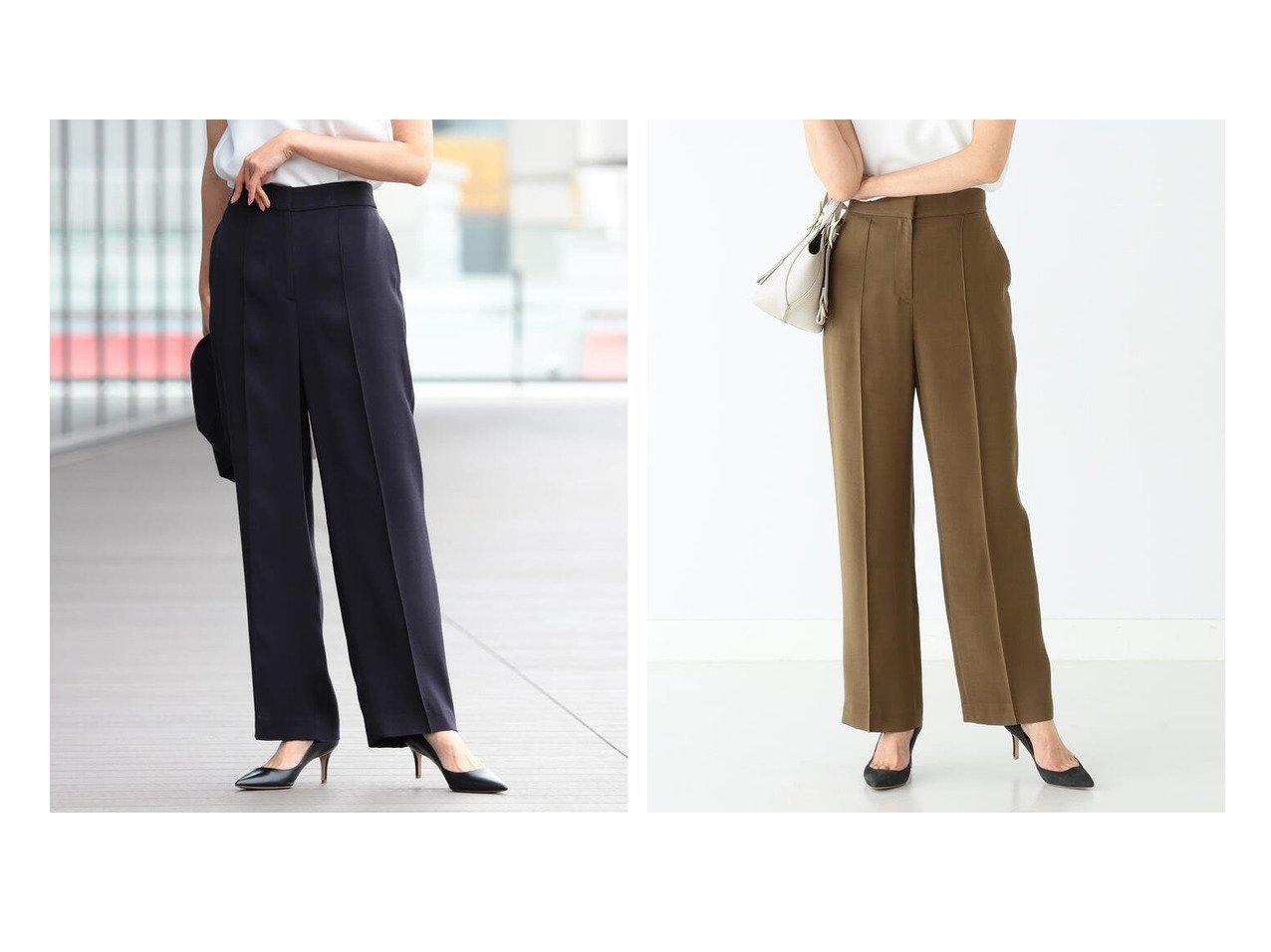 【Demi-Luxe BEAMS/デミルクス ビームス】のDemi- レーヨンシルク セミワイドパンツ 21FO パンツのおすすめ!人気、トレンド・レディースファッションの通販 おすすめで人気の流行・トレンド、ファッションの通販商品 メンズファッション・キッズファッション・インテリア・家具・レディースファッション・服の通販 founy(ファニー) https://founy.com/ ファッション Fashion レディースファッション WOMEN パンツ Pants とろみ シルク シンプル ジャケット センター バランス フィット フォーマル |ID:crp329100000024694
