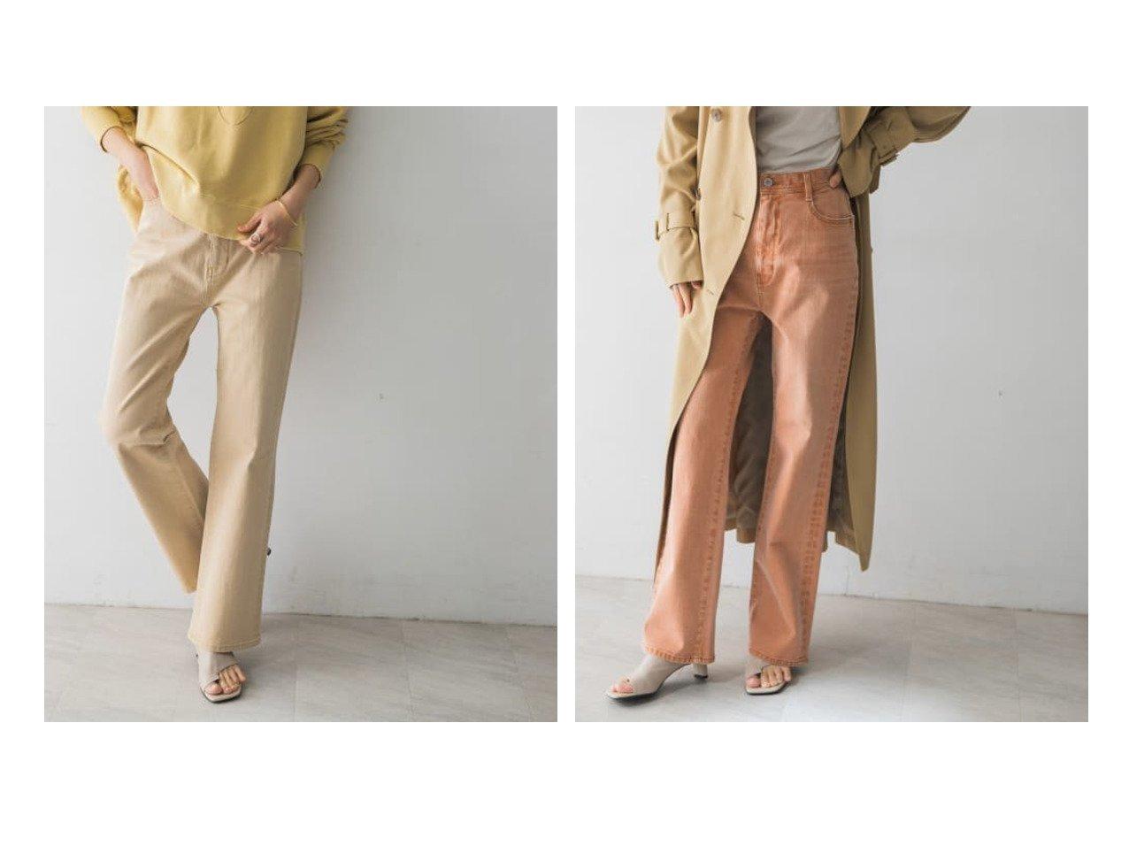 【URBAN RESEARCH/アーバンリサーチ】のMARITASDENIMセミフレアパンツ パンツのおすすめ!人気、トレンド・レディースファッションの通販 おすすめで人気の流行・トレンド、ファッションの通販商品 メンズファッション・キッズファッション・インテリア・家具・レディースファッション・服の通販 founy(ファニー) https://founy.com/ ファッション Fashion レディースファッション WOMEN パンツ Pants デニムパンツ Denim Pants 春 Spring シンプル ストレッチ デニム トレンド ポケット リブニット 再入荷 Restock/Back in Stock/Re Arrival |ID:crp329100000024697