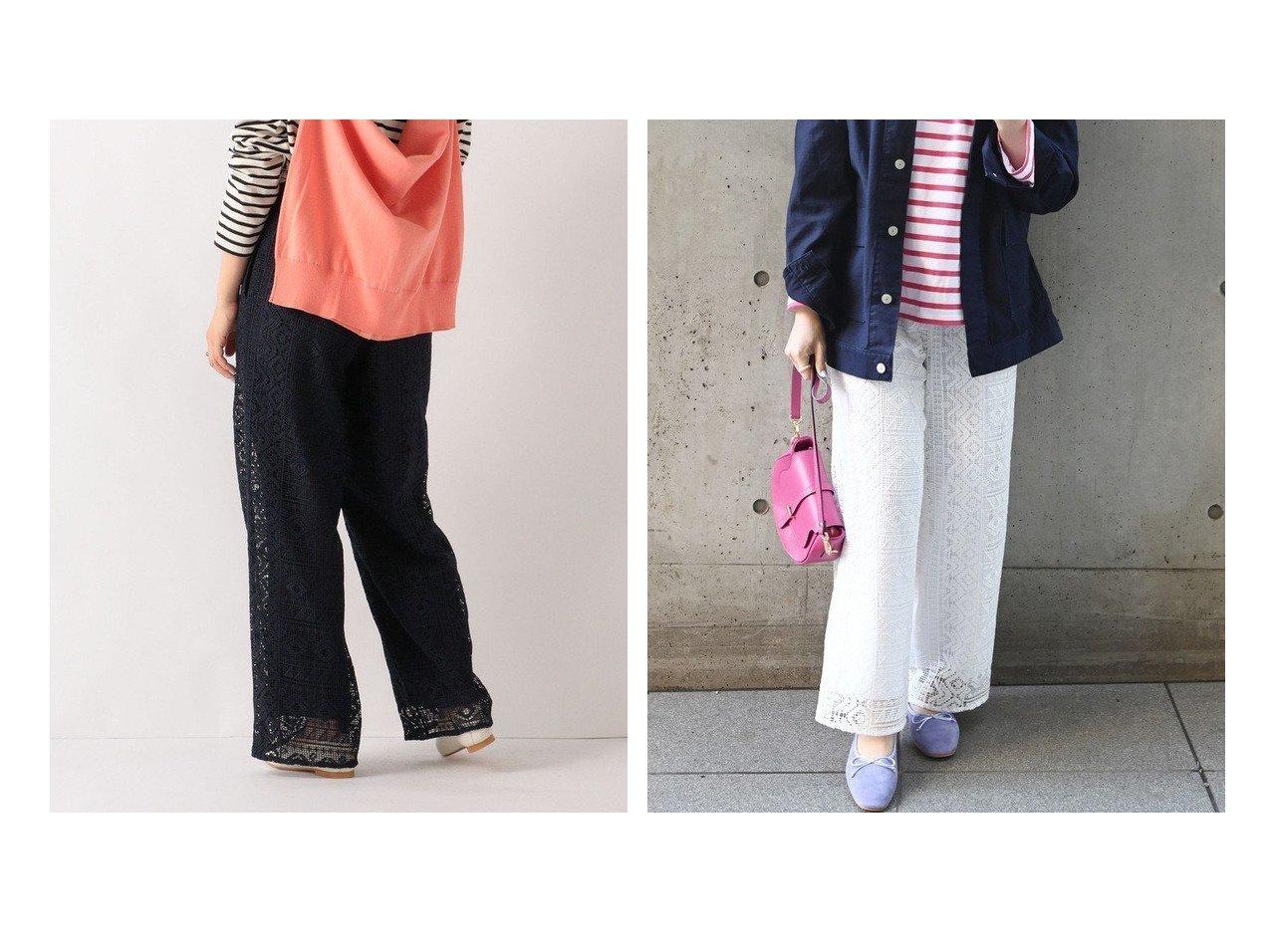 【SHIPS any/シップス エニィ】のSHIPS any デコール レース パンツ パンツのおすすめ!人気、トレンド・レディースファッションの通販 おすすめで人気の流行・トレンド、ファッションの通販商品 メンズファッション・キッズファッション・インテリア・家具・レディースファッション・服の通販 founy(ファニー) https://founy.com/ ファッション Fashion レディースファッション WOMEN パンツ Pants アクセサリー キャミワンピース ジャケット スウェット ストレート スニーカー フェミニン ポケット レース ワイド 再入荷 Restock/Back in Stock/Re Arrival |ID:crp329100000024698