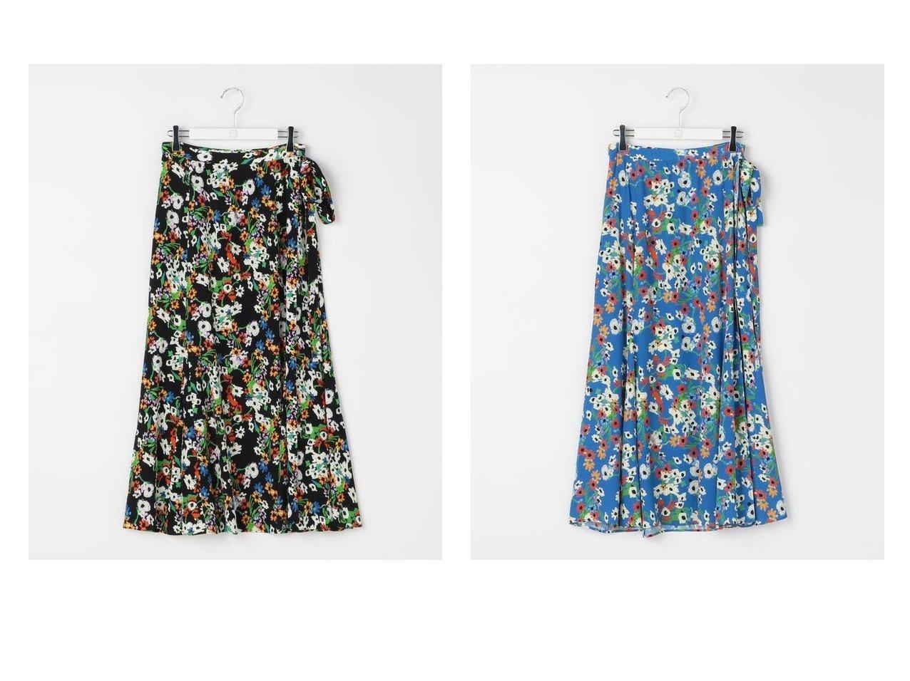 【Ravissant Laviere/ラヴィソンラヴィエール】のフラワープリントラップスカート スカートのおすすめ!人気、トレンド・レディースファッションの通販 おすすめで人気の流行・トレンド、ファッションの通販商品 メンズファッション・キッズファッション・インテリア・家具・レディースファッション・服の通販 founy(ファニー) https://founy.com/ ファッション Fashion レディースファッション WOMEN スカート Skirt Aライン/フレアスカート Flared A-Line Skirts ギャザー シンプル フランス フレア ラップ 再入荷 Restock/Back in Stock/Re Arrival |ID:crp329100000024730