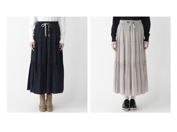 【BLUE LABEL CRESTBRIDGE/ブルーレーベル クレストブリッジ】のパウダリーサテンスカート スカートのおすすめ!人気、トレンド・レディースファッションの通販 おすすめファッション通販アイテム レディースファッション・服の通販 founy(ファニー) ファッション Fashion レディースファッション WOMEN スカート Skirt NEW・新作・新着・新入荷 New Arrivals リバーシブル ロング 無地 |ID:crp329100000024732