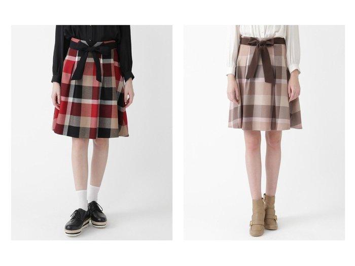 【BLUE LABEL CRESTBRIDGE/ブルーレーベル クレストブリッジ】のクレストブリッジチェックウールビエラフレアスカート スカートのおすすめ!人気、トレンド・レディースファッションの通販 おすすめファッション通販アイテム レディースファッション・服の通販 founy(ファニー) ファッション Fashion レディースファッション WOMEN スカート Skirt ミニスカート Mini Skirts Aライン/フレアスカート Flared A-Line Skirts A/W 秋冬 AW Autumn/Winter / FW Fall-Winter ガーリー ドレープ フレア ベーシック ミニスカート リボン 定番 Standard  ID:crp329100000024741