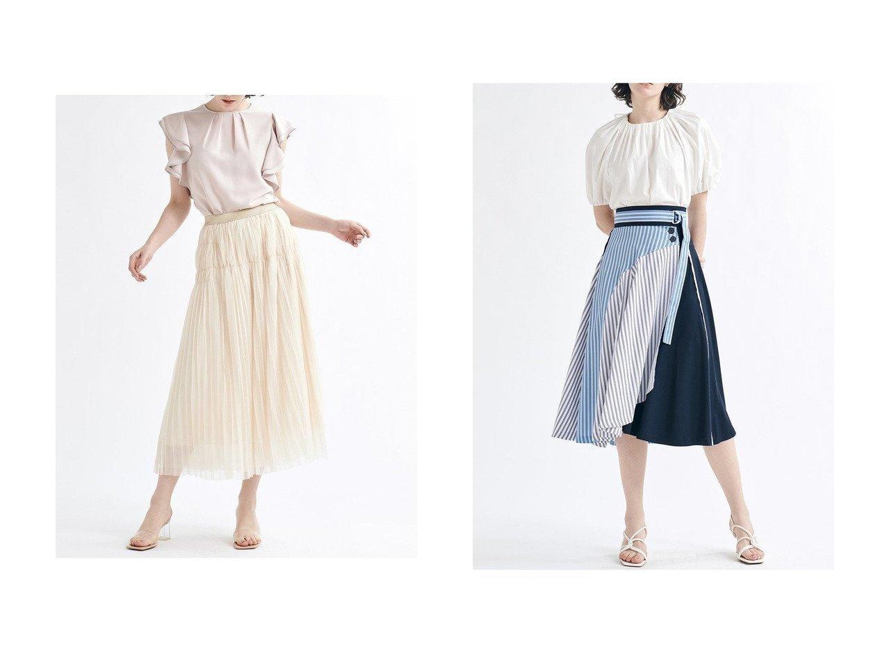 【LANVIN en Bleu/ランバン オン ブルー】のチュールロングスカート&パターンMIXスカート スカートのおすすめ!人気、トレンド・レディースファッションの通販 おすすめで人気の流行・トレンド、ファッションの通販商品 メンズファッション・キッズファッション・インテリア・家具・レディースファッション・服の通販 founy(ファニー) https://founy.com/ ファッション Fashion レディースファッション WOMEN スカート Skirt ロングスカート Long Skirt 2021年 2021 2021 春夏 S/S SS Spring/Summer 2021 S/S 春夏 SS Spring/Summer エレガント チュール フォーマル プリーツ リラックス ロング 春 Spring  ID:crp329100000024751
