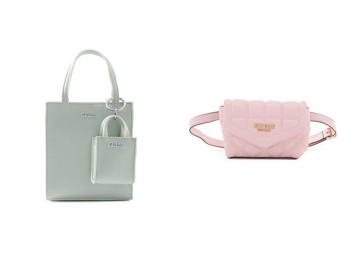 【GUESS/ゲス】のPICNIC Mini Tote&KAMINA Quilted Convertible Crossbody Belt Bag バッグ・鞄のおすすめ!人気、トレンド・レディースファッションの通販 おすすめファッション通販アイテム レディースファッション・服の通販 founy(ファニー)  ファッション Fashion レディースファッション WOMEN バッグ Bag 2021年 2021 2021 春夏 S/S SS Spring/Summer 2021 S/S 春夏 SS Spring/Summer ショルダー シンプル ポケット 春 Spring 財布 |ID:crp329100000024782