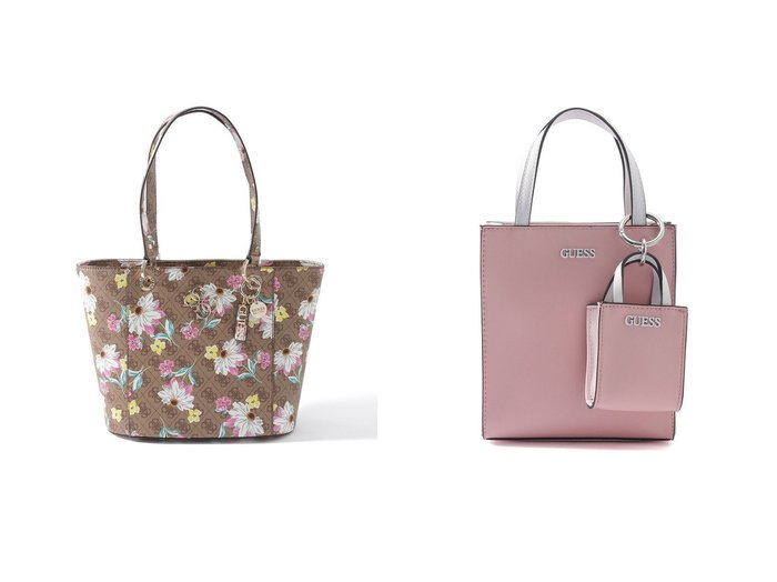 【GUESS/ゲス】のPICNIC Mini Tote&NOELLE Floral 4G Logo Small Elite Tote バッグ・鞄のおすすめ!人気、トレンド・レディースファッションの通販 おすすめファッション通販アイテム レディースファッション・服の通販 founy(ファニー)  ファッション Fashion レディースファッション WOMEN バッグ Bag 2021年 2021 2021 春夏 S/S SS Spring/Summer 2021 S/S 春夏 SS Spring/Summer ショルダー シンプル ポケット 春 Spring 財布 |ID:crp329100000024783